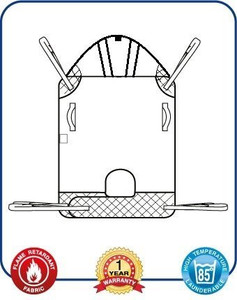 Mackworth Classic Universal Hoist Sling with Head Support & loop Attachments
