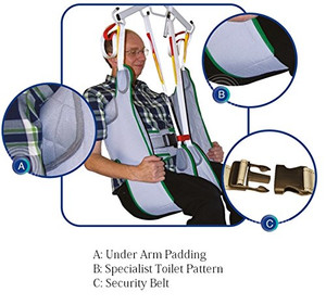 Mackworth Luxury Quality Toilet Sling with Loop Attachments