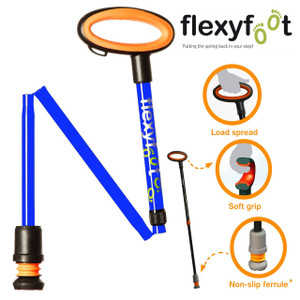 The Flexyfoot Urban Adjustable Telescopic/Folding Walking Stick