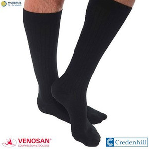 VENOSAN MicroFiberLine Mens Compression Socks Black 15-20 mmHg
