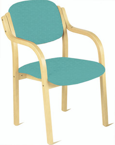 Flex Waiting Room Wooden Chair with Arms