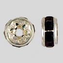 5mm Rhinestone Rondelle Garnet, Silver Plated