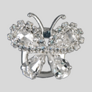 Crystal Silver Butterfly Trim
