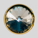 Crystal, Gold Plated 10mm Rivolli Button