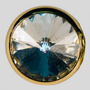 Crystal, Gold Plated 22mm Rivolli Button