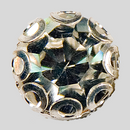 Crystal, Silver Plated 12mm Rhinestone Button, ss48