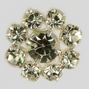 Crystal, Silver Plated 17mm Rhinestone Button, ss18, ss30