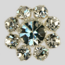 Crystal, Silver Plated 22mm Rhinestone Button, ss25, ss45