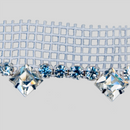 Fancy Metal Set MC Crystal Silver Banding + MC Chatons + MC 8x8 Squares with White Netting