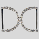 Rhinestone Buckle  Crystal Silver,53x36mm Outside Dimensions