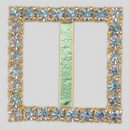 Square Rhinestone Buckle Crystal Gold, 20mm Outside Dimension, 15mm Inside Dimenson
