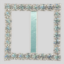 Square Rhinestone Buckle Crystal Silver, 20mm Outside Dimension, 15mm Inside Dimenson