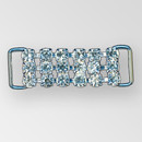 1.75 inch ss18 Rhinestone Connector, non flexible, Crystal Silver
