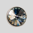 0.4 inch Crystal Silver Rivoli Button