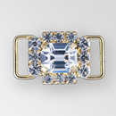 1 inch Rhinestone Connector in Crystal Gold, ss14.5, ss18, 12x10mm Octagon