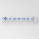 4.5 inch Rhinestone Connector in Crystal AB Silver, ss29