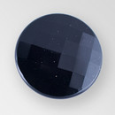 Jet Glass Button, 8 Ligne/18mm