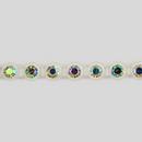 1-row ss13 Crystal AB, Alabaster Setting, Machine Cut Rhinestone Plastic Banding