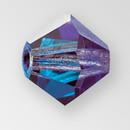 6mm MC Preciosa Bicone (Rondelle) Bead, Bermuda Blue color