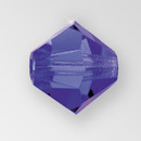 4mm MC Preciosa Bicone (Rondelle) Bead, Deep Tanzanite AB color