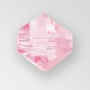4mm MC Preciosa Bicone (Rondelle) Bead, Pink Sapphire AB color