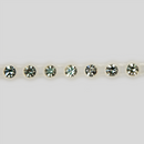1-row ss13 Crystal, Alabaster Setting, Machine Cut Rhinestone Plastic Banding