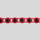 1-row ss13 Siam Ruby, Red Setting, Machine Cut Rhinestone Plastic Banding