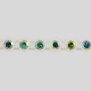1-row ss15 Crystal AB, White Setting, Machine Cut Rhinestone Plastic Banding