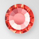 MC Hot Fix Chaton Rose in Padparadscha color, size ss34, foiled back