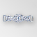 2.5 inches Braided Rhinestone Connector in Crystal Silver, ss12, ss34