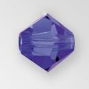 5mm MC Preciosa Bicone (Rondelle) Bead, Deep Tanzanite AB color