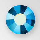 MC Hot Fix Chaton Rose in Capri Blue AB color, size ss34, foiled back