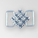 1 inch ss29 Square Crystal Silver Rhinestone Connector