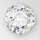 10mm Crystal AB Silver Square MC stone in sew on setting