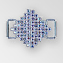 1.25 inch Crystal AB Silver Robmus Closure, ss8.5 (30% applied; limited - time special)