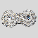 1.75 Inches x 0.8 Inch Crystal Silver Rhinestone Closure, ss8.5, ss24