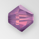 6mm MC Preciosa Bicone (Rondelle) Bead, Amethyst Opal color