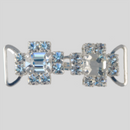 1.90 Inches x 0.625 Inch Crystal Silver Rhinestone Closure