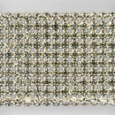 10-row Machine Cut Metal Banding, Crystal, Silver plated, White net, no extra netting