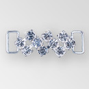 2 inch Two Row Crystal Silver Rhinestone Connector, ss 29