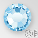 ss20 AQUAMARINE - PRECIOSA MAXIMA Flat Back, 15 facets, foiled