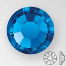 ss20 CAPRI BLUE - PRECIOSA MAXIMA Flat Back, 15 facets, foiled