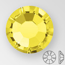 ss20 CITRINE - PRECIOSA MAXIMA Flat Back, 15 facets, foiled