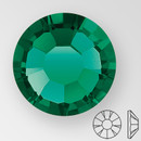 ss20 EMERALD - PRECIOSA MAXIMA Flat Back, 15 facets, foiled