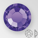 ss20 PURPLE VELVET - PRECIOSA MAXIMA Flat Back, 15 facets, foiled