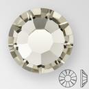 ss30 BLACK DIAMOND - PRECIOSA MAXIMA Flat Back, 18 facets, foiled