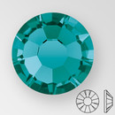 ss30 BLUE ZIRCON - PRECIOSA MAXIMA Flat Back, 18 facets, foiled