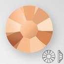 ss30 CAPRI GOLD - PRECIOSA MAXIMA Flat Back, 18 facets, foiled