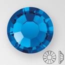 ss30 CAPRI BLUE - PRECIOSA MAXIMA Flat Back, 18 facets, foiled