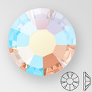 ss20 LIGHT PEACH AB - PRECIOSA MAXIMA Flat Back, 15 facets, foiled
